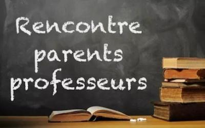 Réunions de parents dans les classes