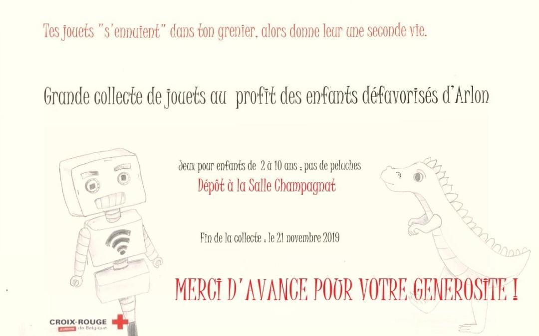 Collecte de jeux et de jouets pour la Croix-Rouge !