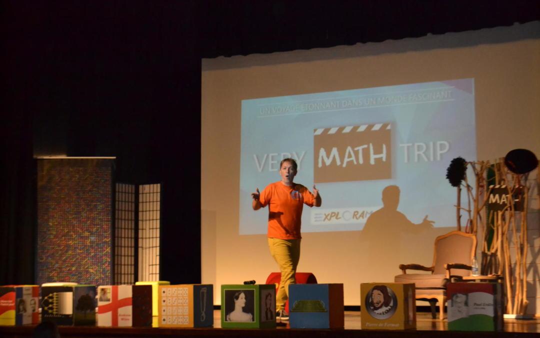 """Retour en images sur le spectacle """"Very Math Trip"""" proposé aux 1ère et 2ème secondaire"""