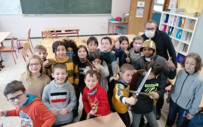 La classe de Monsieur Jean-Baptiste remonte le temps!