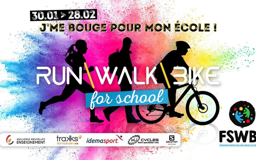 Découvrez le challenge inter-écoles « Run Walk Bike for school » organisé par la FSWBE !